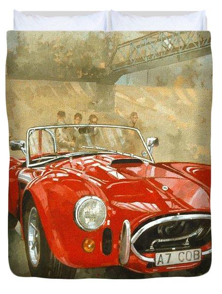 Cobra At Brooklands Duvet Cover by Peter Miller