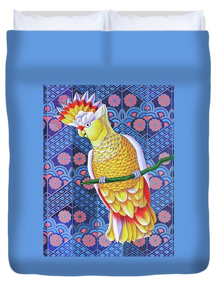 Cockatoo Duvet Cover by Jane Tattersfield