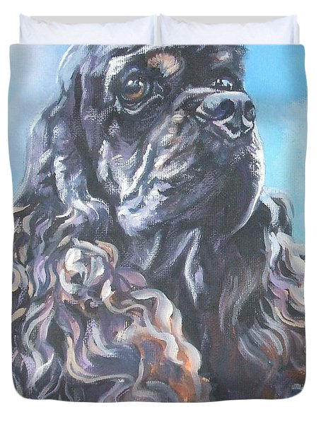 Cocker Spaniel 2 Duvet Cover by Lee Ann Shepard