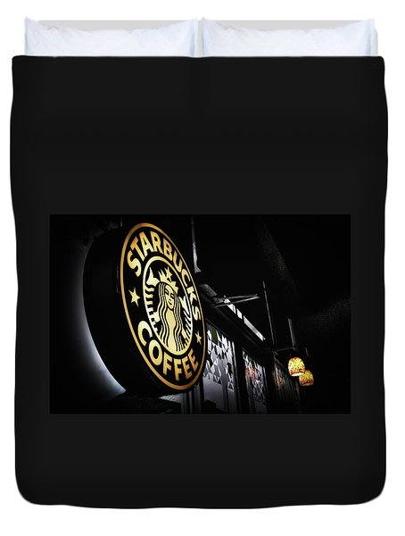 Coffee Break Duvet Cover by Spencer McDonald
