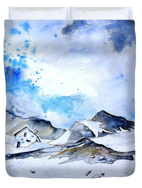 Col Du Pourtalet In The Pyrenees 01 Duvet Cover by Miki De Goodaboom