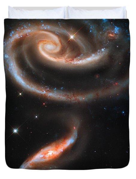 Colliding Galaxies Duvet Cover by Nicholas Burningham