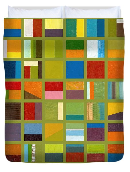 Color Study Collage 64 Duvet Cover by Michelle Calkins