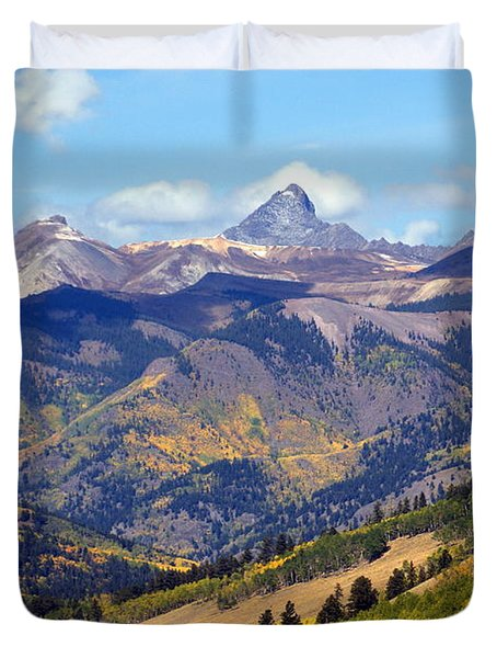 Colorado Mountains 1 Duvet Cover by Marty Koch