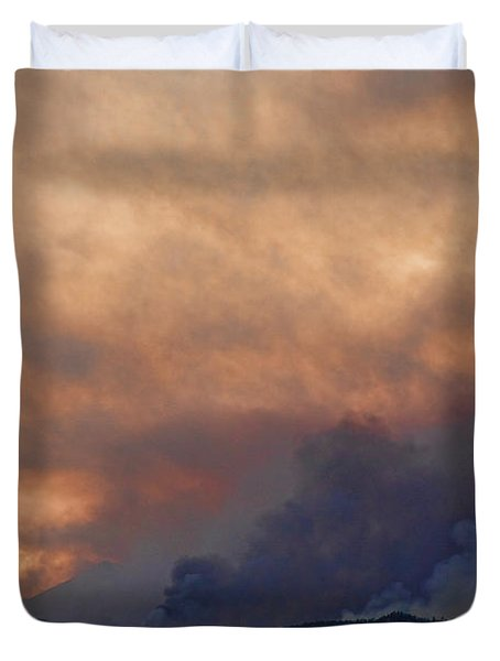 Colorado Rockies on Fire Duvet Cover by James BO  Insogna