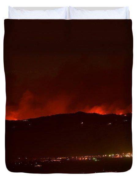 Colorado WildFire Fourmile Canyon aka Labor Day Fire Duvet Cover by James BO  Insogna