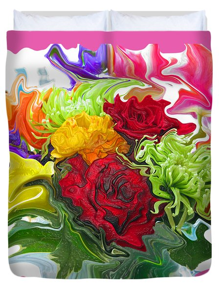 Colorful Bouquet Duvet Cover by Kathy Moll