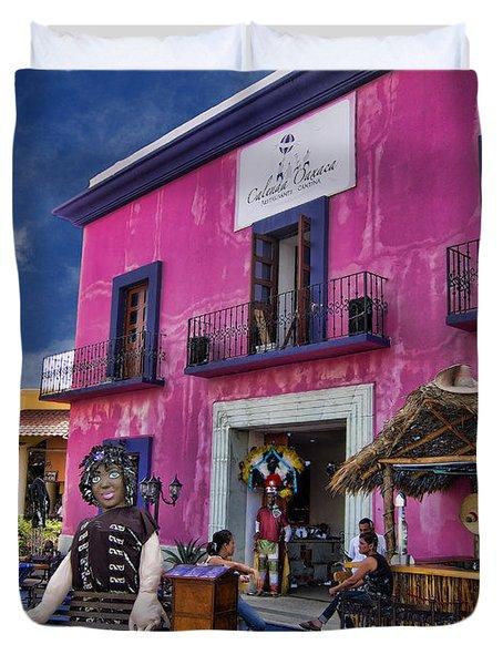 Colorful Cancun Duvet Cover by Douglas Barnard