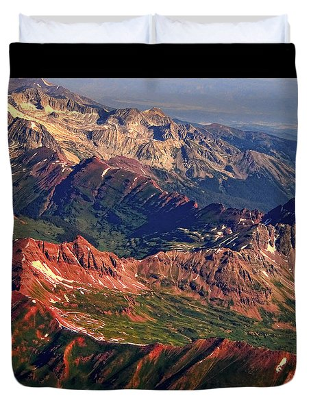 Colorful Colorado Rocky Mountains Planet Art Poster  Duvet Cover by James BO  Insogna