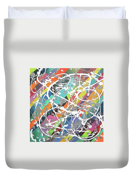Colorful Disaster Aka Jeremy's Mess Duvet Cover by Jeremy Aiyadurai