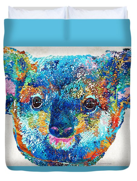 Colorful Koala Bear Art By Sharon Cummings Duvet Cover by Sharon Cummings