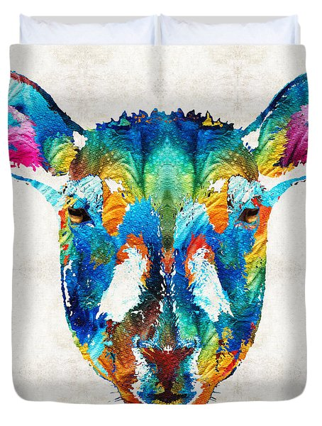 Colorful Sheep Art - Shear Color - By Sharon Cummings Duvet Cover by Sharon Cummings