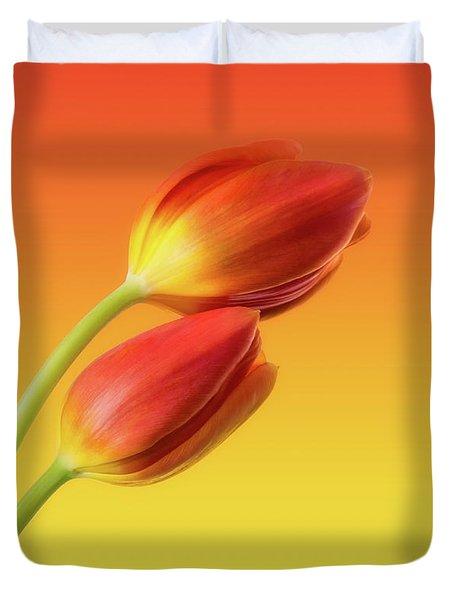 Colorful Tulips Duvet Cover by Wim Lanclus