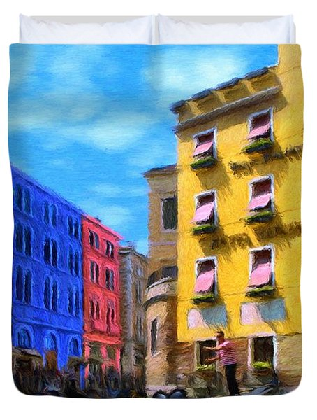 Colors of Venice Duvet Cover by Jeff Kolker