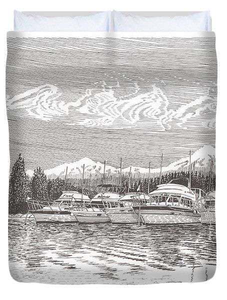 Columbia River Raft Up Duvet Cover by Jack Pumphrey