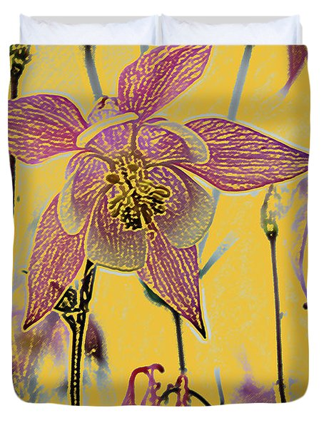 Columbine  Duvet Cover by Michael Peychich