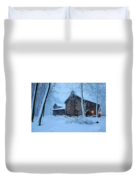 Comfort From The Cold Duvet Cover by Kristin Elmquist