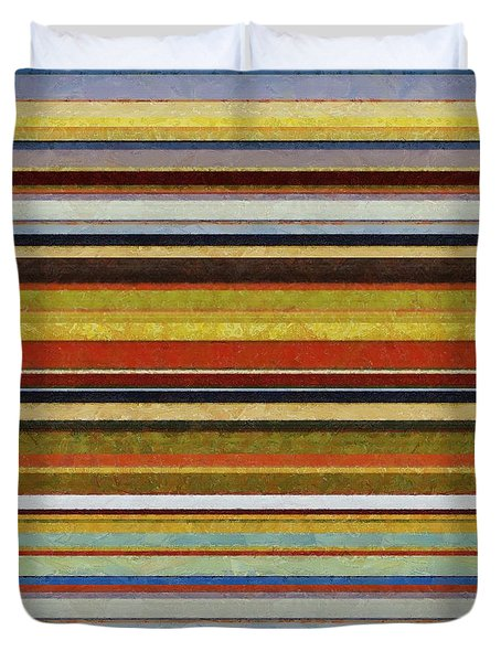 Comfortable Stripes Vl Duvet Cover by Michelle Calkins