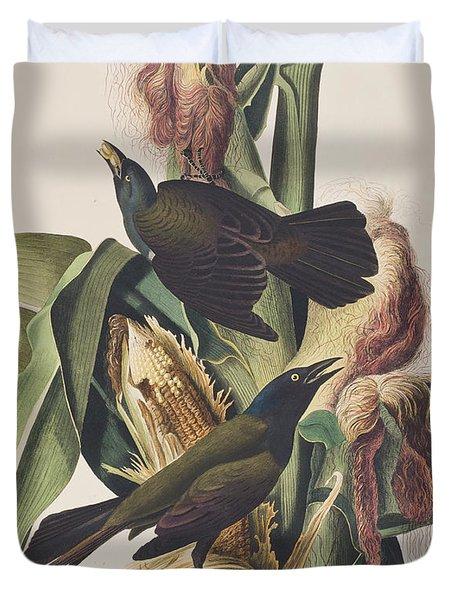 Common Crow Duvet Cover by John James Audubon