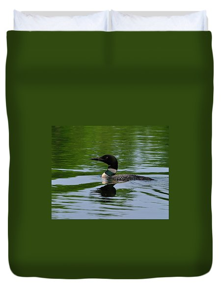 Common Loon Duvet Cover by Tony Beck