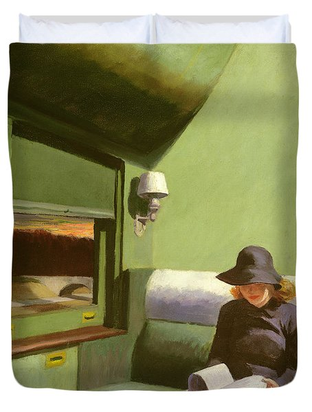 Compartment C Duvet Cover by Edward Hopper