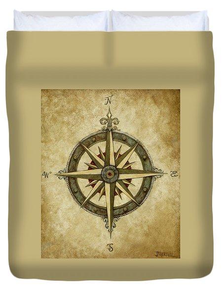 Compass Rose Duvet Cover by Judy Merrell