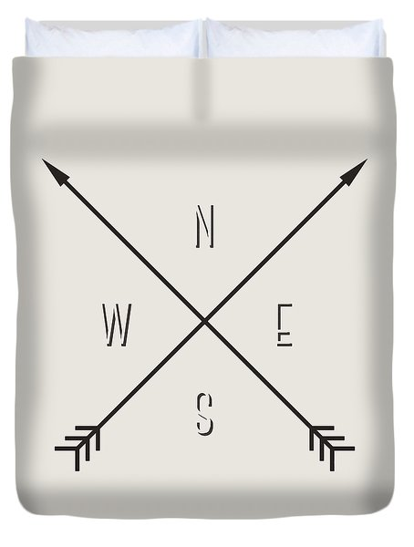 Compass Duvet Cover by Taylan Soyturk