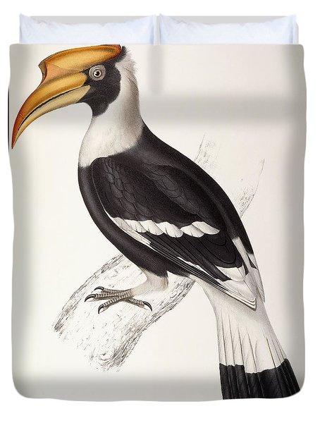 Concave Hornbill Duvet Cover by John Gould