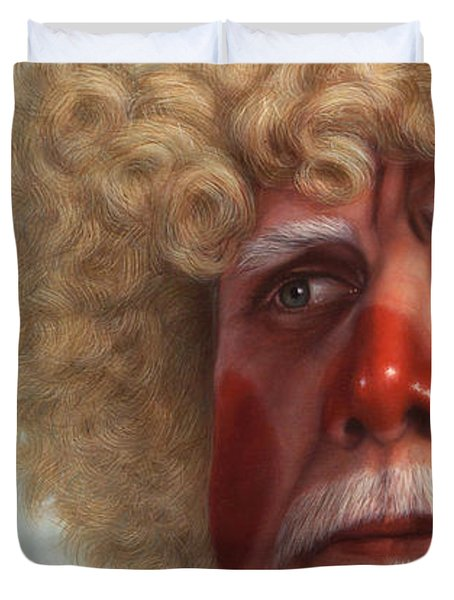 Concerned Duvet Cover by James W Johnson