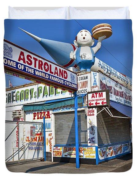 Coney Island Memories 11 Duvet Cover by Madeline Ellis