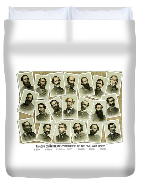 Confederate Commanders Of The Civil War Duvet Cover by War Is Hell Store
