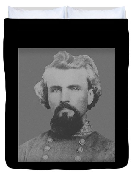 Confederate General Nathan Forrest Duvet Cover by War Is Hell Store