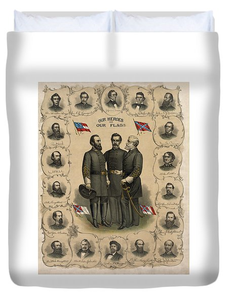 Confederate Generals of The Civil War Duvet Cover by War Is Hell Store