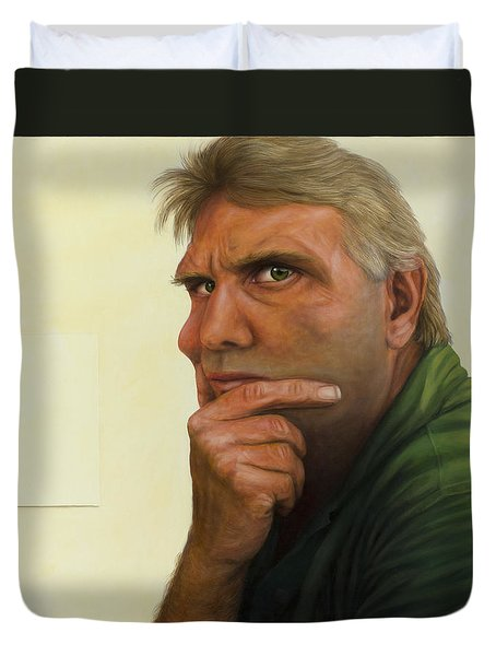 Contemplating The Blank Page Duvet Cover by James W Johnson