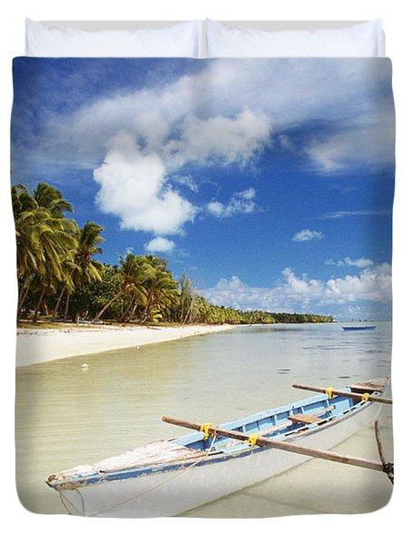 Cook Islands, Aitutaki Duvet Cover by Bob Abraham - Printscapes