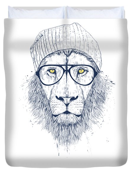 Cool Lion Duvet Cover by Balazs Solti