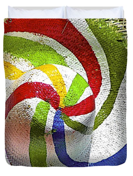 Cool Summer Hat Duvet Cover by Christine Till