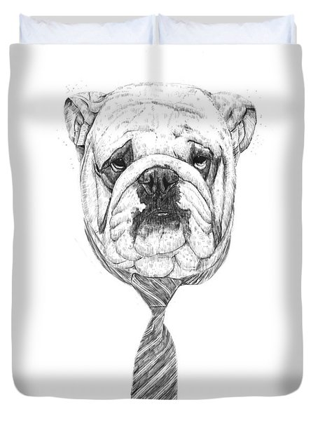 cooldog Duvet Cover by Balazs Solti