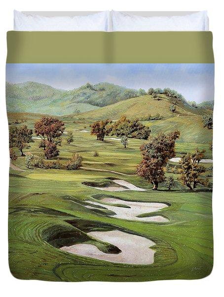 Cordevalle Golf Course Duvet Cover by Guido Borelli