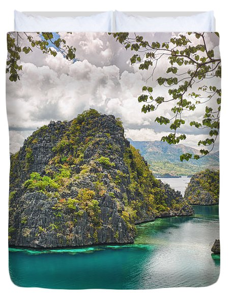 Coron Lagoon Duvet Cover by MotHaiBaPhoto Prints