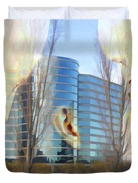 Corporate Cloning Duvet Cover by Kurt Van Wagner