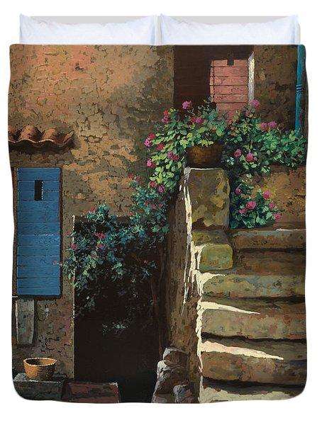 cortile interno Duvet Cover by Guido Borelli
