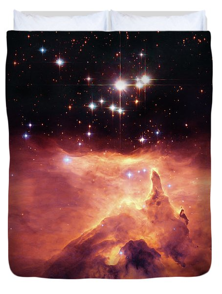 Cosmic Cave Duvet Cover by The  Vault - Jennifer Rondinelli Reilly