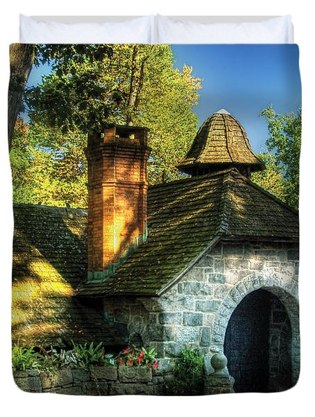 Cottage - The Little Cottage Duvet Cover by Mike Savad