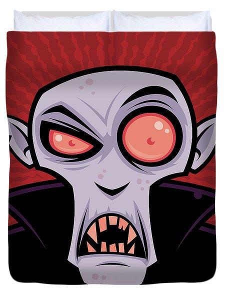 Count Dracula Duvet Cover by John Schwegel