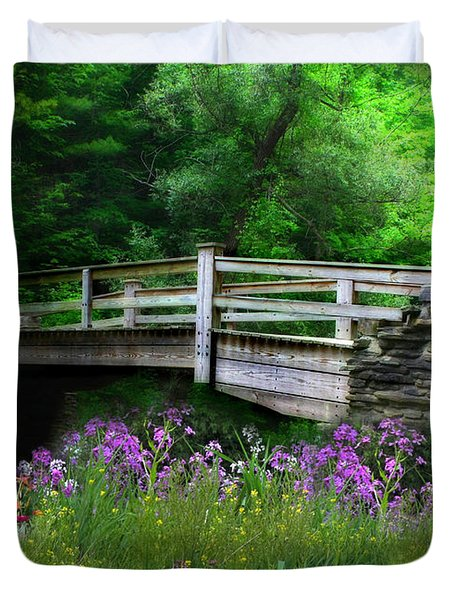 Country Bridge Duvet Cover by Lori Deiter