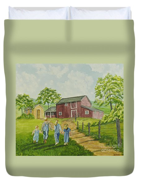 Country Kids Duvet Cover by Charlotte Blanchard