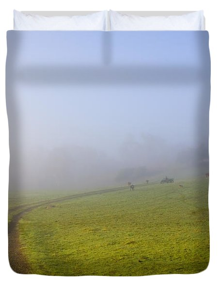 Country Roads Duvet Cover by Mike  Dawson