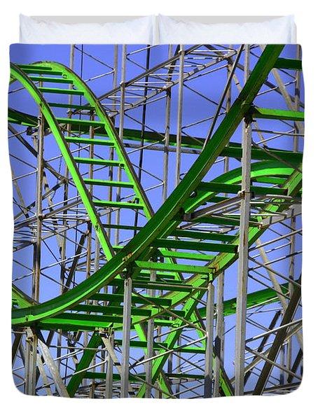 County Fair Thrill Ride Duvet Cover by Joe Kozlowski