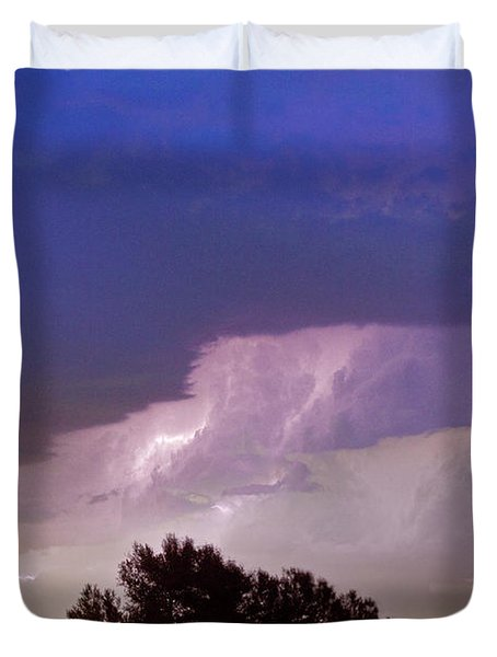County Line Northern Colorado Lightning Storm Duvet Cover by James BO  Insogna
